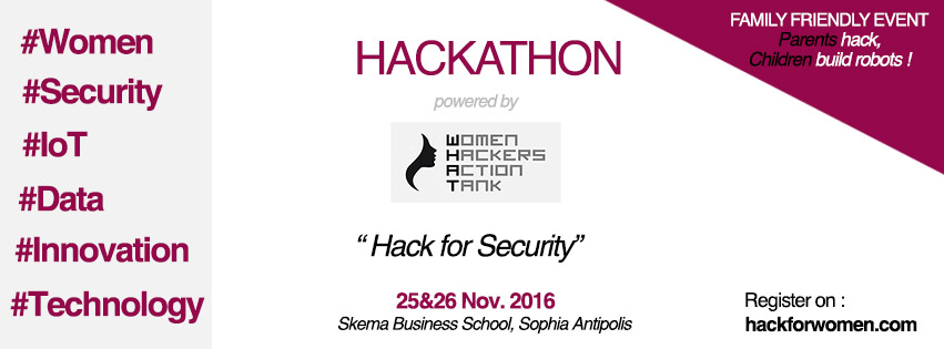 25 and 26/11/16 : SATT Sud-Est supports the 1st hackathon organized by Women Hackers Action Tank (WHAT)