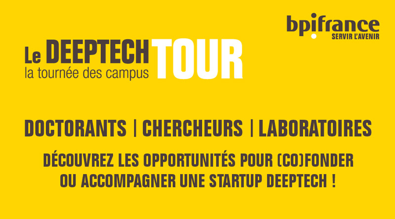 Deeptech Tour : Bpifrance part en tournée et rend visite aux Campus universitaires et acteurs de l'innovation des territoires
