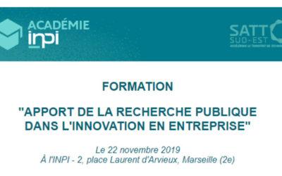 L'apport de la Recherche Publique dans l'Innovation en entreprise